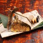 神楽坂 八百萬 - 蕎麦味噌朴葉焼き