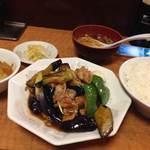中華みかく亭 - なすとピーマン定食 750円