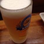 とんかつ 安右衛門 - 生ビール