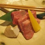 玉之湯 - チョイス料理:和牛ロース陶板焼き