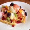 一味真 - 料理写真:季節のフルーツワッフル