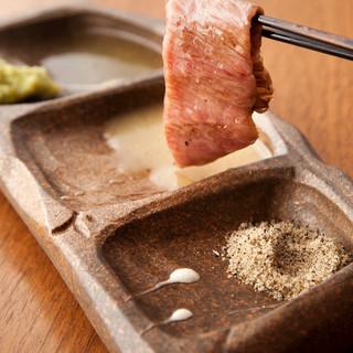 【肉の旨みを引き出すアイテム】『銀兵衛塩』&『特製わさび』