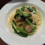 29246492 - 帆立と小松菜のクリームパスタサラダ・ドリンク付き(950円)です。
