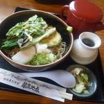 レストラン 最高地点 - 「冷やし野菜天ぷらそば (900円)」