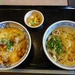 天霧うどん - 2回目(26年7月)揚げ鶏親子丼ぶっかけセット