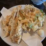 藤蔵屋 - かき揚げ天ぷらと竹の子天ぷら