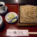 手打そば 河邉 - そばとミニ牛丼セット(1000円)_2009-12-29