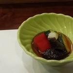 鮨幸 - 野菜の煮浸し~茄子が絶品