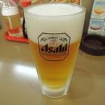 ぼん天 - 生ビール(中)520円