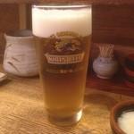鳥富久 - 生ビール