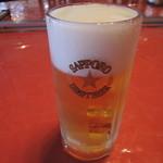 寿蘭 - 生ビール中550円