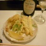 愛志蔵 - 天ぷら(雪コース)とハーフワイン