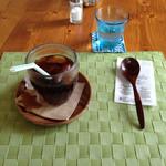 手紙カフェ・・・from the heart. - 水だし珈琲です。とても香ばしくて美味しいです。氷も珈琲でできてました。