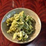 おからはうす - アオサの天ぷらが美味しい美味しいと言ってたらオマケしてくれました♪