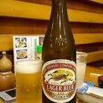 総本家更科堀井 - [2回目]瓶ビール・中 (650円)