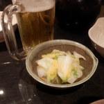 北海道しゃぶしゃぶ ポッケ - おかわりビールと 白菜