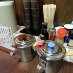博多ラーメン 山桜 - 2014年7月21日(月・祝) 小上がり席卓上