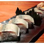 29257936 - 鯖棒寿司・提供時(2012)