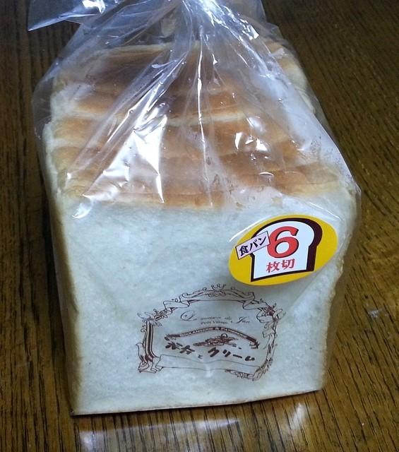 粉とクリーム 古河店 - 朝食用にきぬまろ食パン 210円