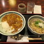 そば処乃ぶよし - ミニカレー丼定食(冷そば) 700円