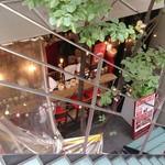 グラマラス - Glamorous @南青山 地下1Fにある店舗室外カウンター席を地上階から