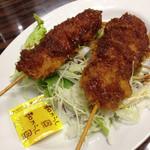 足利麺 - 鳥串カツ 350円