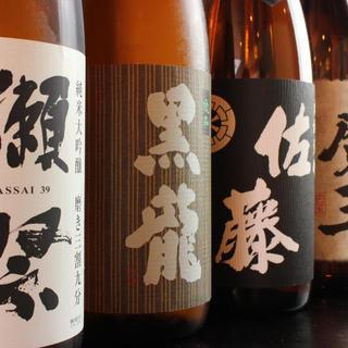 日本酒、芋焼酎