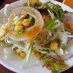 カフェ・ド・あいどる - ランチのサラダ