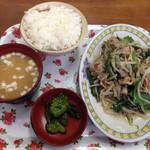中華 富士 - ニラ炒め定食
