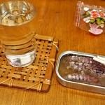 シバチョウ - 燗酒は「菊正宗 生酛」(350円)
