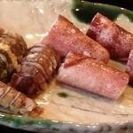 小笹寿し - シャコと煮イカ