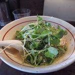 麺屋 がらーじ - 鶏塩ラーメン[680円]+つまみ菜[100円]