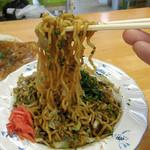 深町 - 太めの縮れ麺