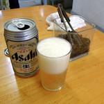 深町 - 裏メニューのビール、価格不明
