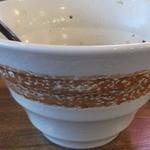 麺場 ふうらいぼう - 深鉢横から