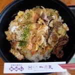 29277205 - かつ丼と牛スタミナ焼の2色丼 1600円