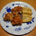 魚八栄五郎 - 玉子焼き、鳥の唐揚