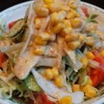 季節料理くら井 - 野菜サラダ390円 味は普通だけど野菜がたっぷり取れていいです