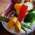 ヴェッロクオーレ - メインランチ1800円のほうは鎌倉野菜のプチ・バーニャカウダ なかなか美味しい