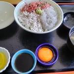 海里部 - 三色ちりめん丼(1,080円)