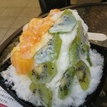 冰冰花 - 超塾アップルマンゴー&生キウイ氷(700円)