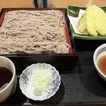 藍屋 - 天セイロそば(1134円)