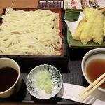 藍屋 - 天セイロうど(1134円)