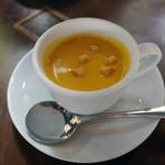 カフェ・ミケランジェロ - セットのスープは冷静パンプキンスープ