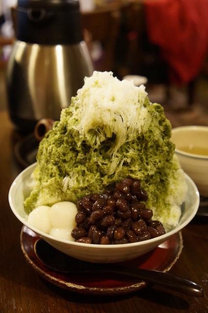 八女茶販売・喫茶 伽藍堂 - 特・緑茶氷(620円)