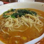 29298436 - 坦々麺(少し食べかけ)