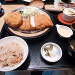 29298999 - 豆乳コロッケと三元豚ロースカツ御膳
