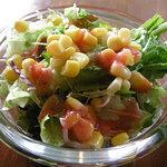 フィンマクールズ 大崎 - 昼のプレートのサラダ