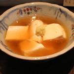 手打ち蕎麦 成冨 - しょうが葛あんかけ豆腐