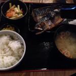 THE 有鳥天酒場 - 鯖の塩焼き定食@750円